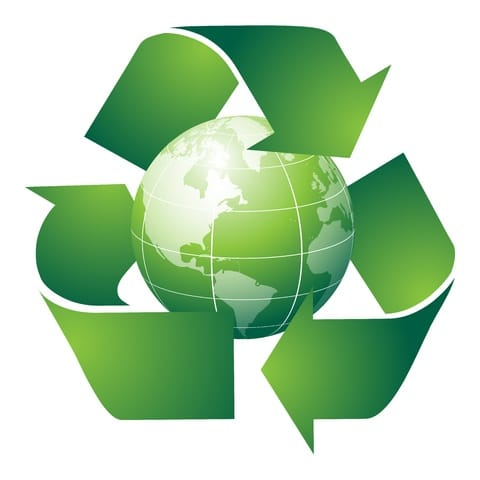 Recycle Symbol And Globe Andusia